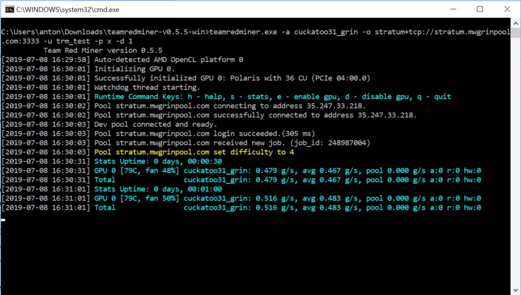 Скачать TeamRedMiner (AMD GPUs Miner)