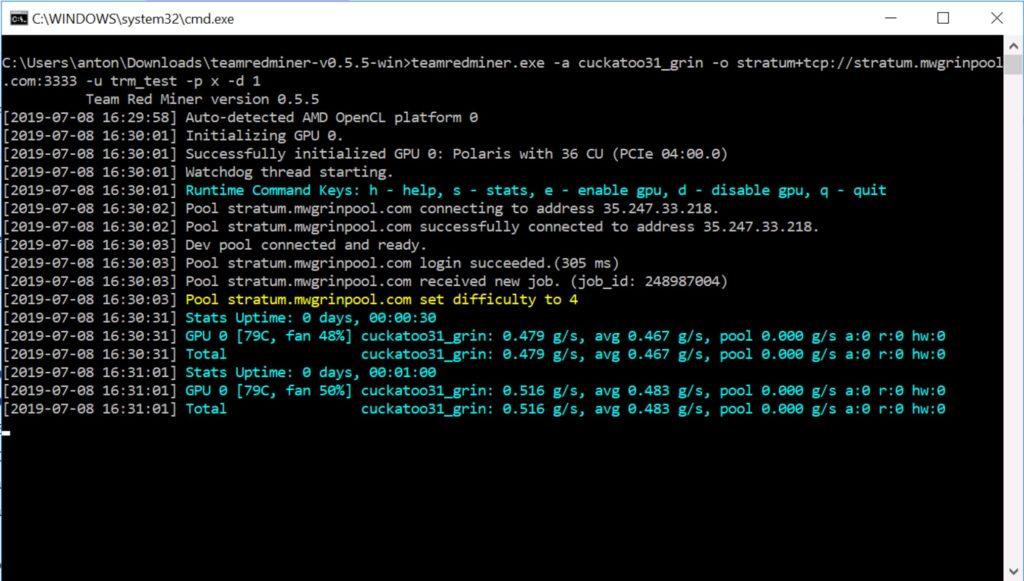Скачать TeamRedMiner 0.5.5 (AMD GPUs Miner)