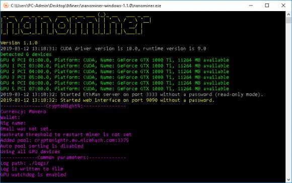 nanominer 1.5.0 (Nvidia & AMD miner)
