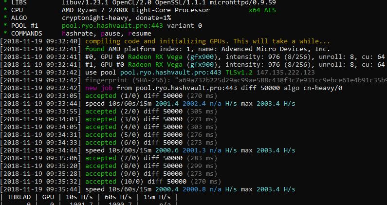 Скачать XMRig 2.14.6 - Monero AMD (OpenCL) miner