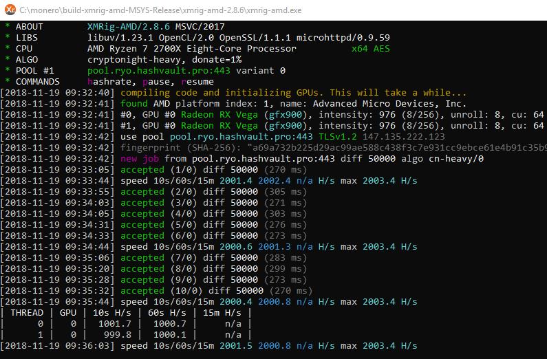 Download XMRig 2.14.6 - Monero AMD (OpenCL) miner