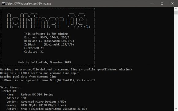 lolMiner 0.9.2 - Significant GRIN Performance Improvement