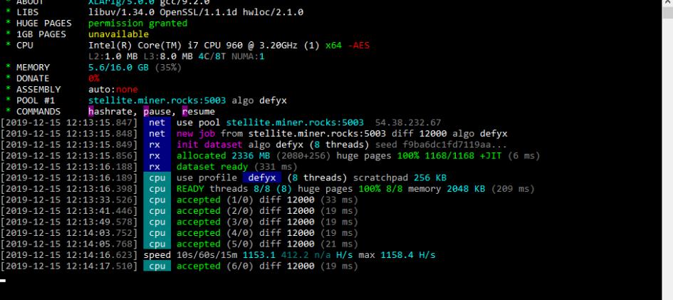 XLArig v5.0.1: miner Scala (XLA)
