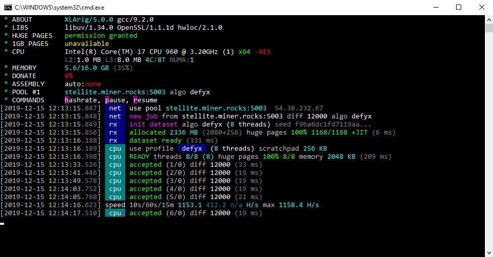 XLArig v5.0.1: Майнер Scala (XLA)