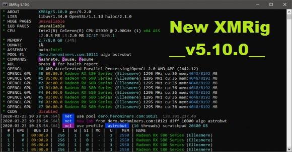 XMRig 5.10.0: Download Miner With AstroBWT AMD GPU Mining