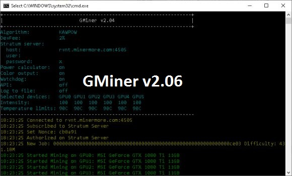 GMiner 2.06: Download miner with improved stability on Qitmeer (PMEER)