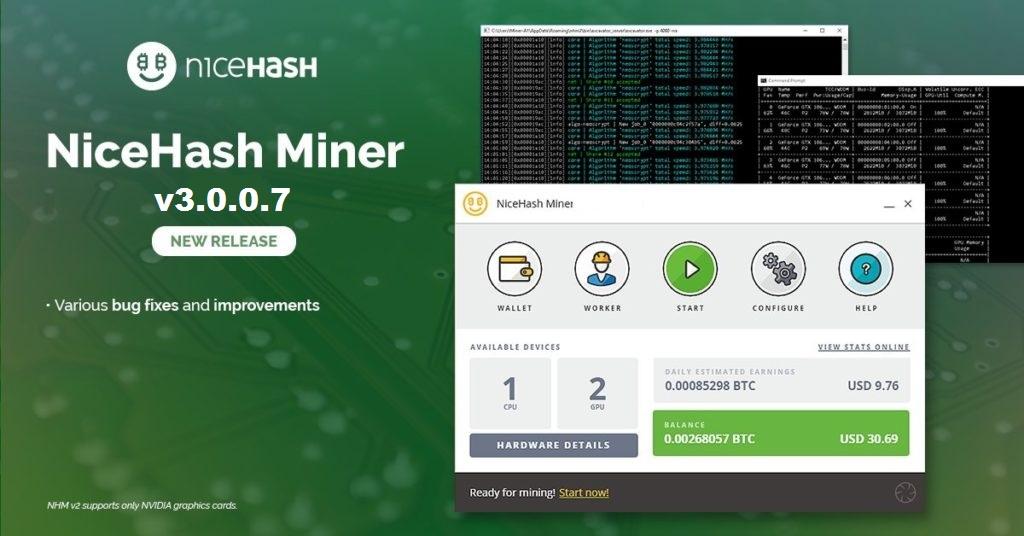 NiceHash Miner 3.0.0.7: Download