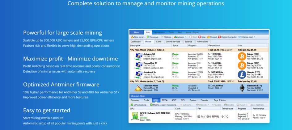 AwesomeMiner v7.7.1: ASIC/GPU/CPU-mining (Скачать для Windows)