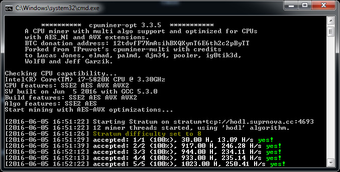 cpuminer-opt v3.13.0.1 - The optimized CPU miner (NoDevFee)